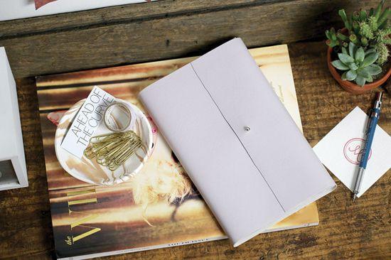 DIY | Notitieboek cover van leer #zelfmaken #diy #zelfmakenmetflair