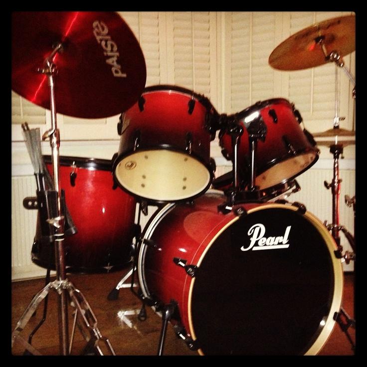 Pearl drumstel at home