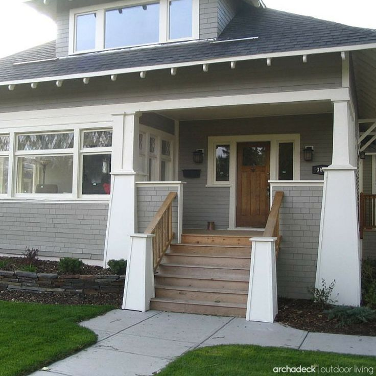 102 best images about front porch open porch and covered for Front deck designs bungalow