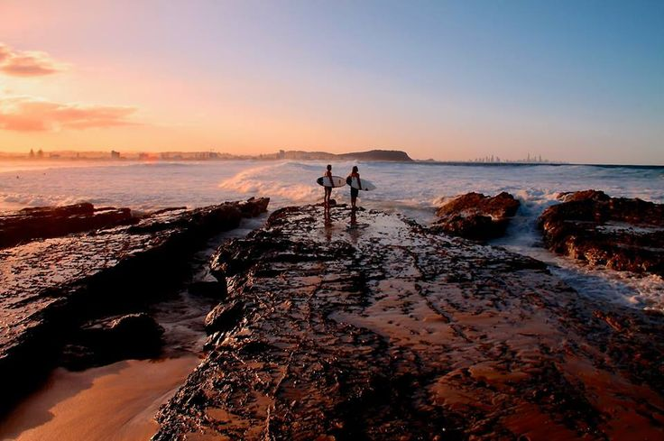 Currumbin, as the sun sets. Gold Coast, Australia.