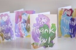 Kids can create beautiful handmade Thank You cards using a wax resist art technique. A white crayon and some watercolour paints are all you'll need!. From our post 20 Awesome Teachers' Day card Ideas with Free Printables! - Print & personalize thank-you cards that kids can make and Teachers will love! Perfect for National Teacher Appreciation Week and or end of school Teacher appreciation tags.