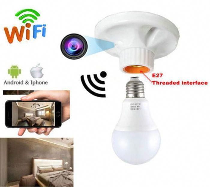 Hd 1080p Wifi Camera Wireless Spy Cam Mini Lamp Holder Type Covert Monitor Dvr Ebay Link Surveillancewificamera Wireless Spy Camera Mini Lamp Wifi Wireless