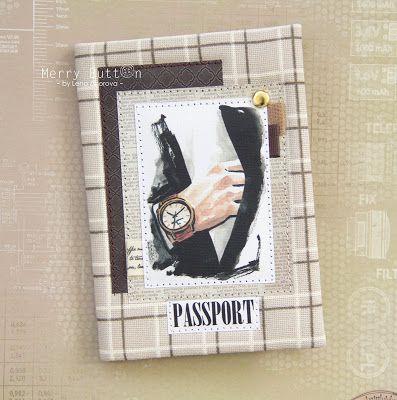 Paper Story: Мастер-класс: тканевая обложка на паспорт