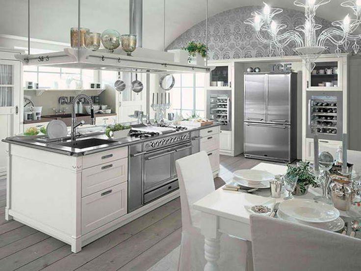 White Kitchen With Grey Floor