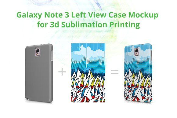 Galaxy Note 3 3d Left Case Mockup by VecRas on @creativemarket