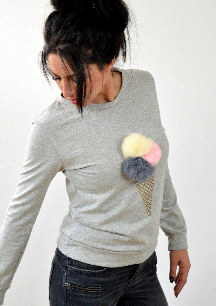 Μπλούζα Φούτερ με Σχέδιο Παγωτό | shop online: www.musitsa.com