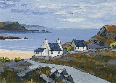 British Artist David BARNES - West towards the Islands