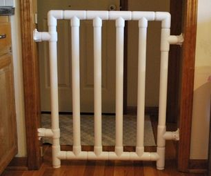 Safe and Strong PVC Baby Gate HEAD OF BASEMENT STAIRS ONLY MAKE TO TOP OF OPENING
