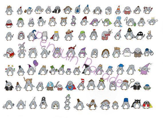 Penguin Illustration Limited Edition Penguin by penguinparadeshop