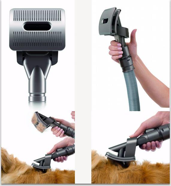 Conoce el cepillo Dyson groom para perros y librate de los pelos de tu mascota. #aspiradora #tecnologia #hogar #limpieza #mascota