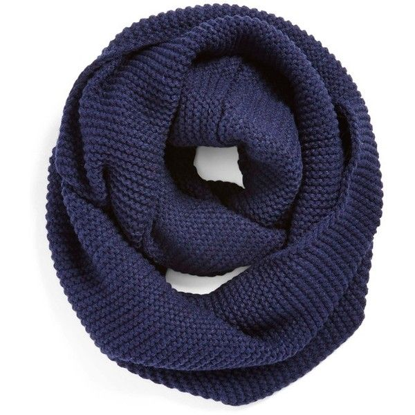 Junior BP. Ribbed Infinity Scarf ($24) ❤ liked on Polyvore featuring accessories, scarves, navy, tube scarves, tube scarf, circle scarves, chunky scarves and infinity loop scarves