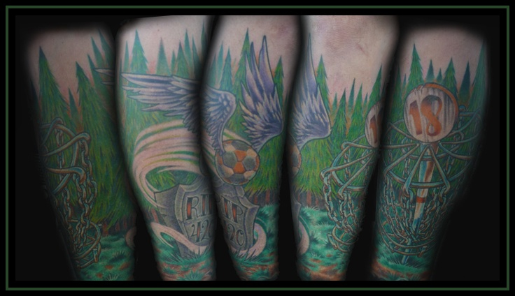 Disc golf tattoo disc golf for Disc golf tattoos