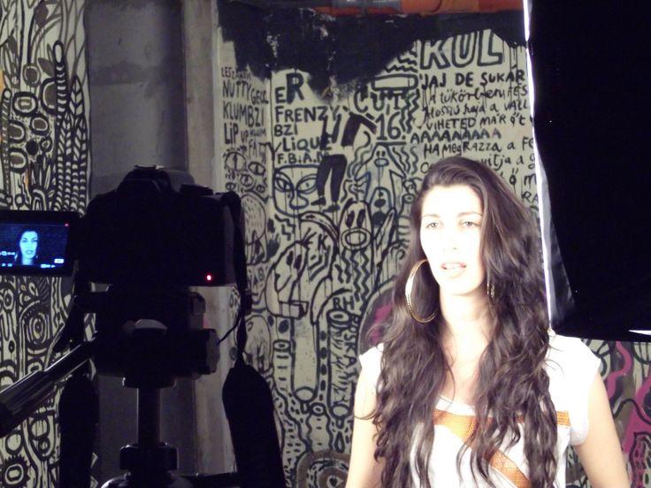 Celeste Shaw video backstage