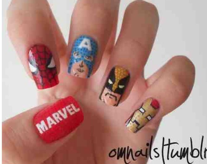 Nails heroeswpl wolverine nail polish