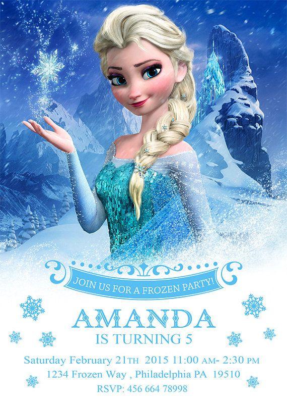 Frozen Invitation Elsa Invitation Frozen Birthday by EniPixels