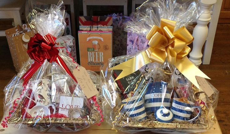 Tea Hamper basket for 2 and a Coffee hamper basket for 2 bespoke hampers made by us with love