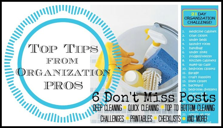 Top Cleaning Tips from Organization Pros via Tipsaholic.com #cleaning #organizing