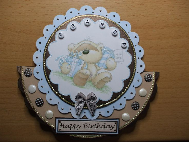 Handmade Fizzy Moon Rocker Card For Granda