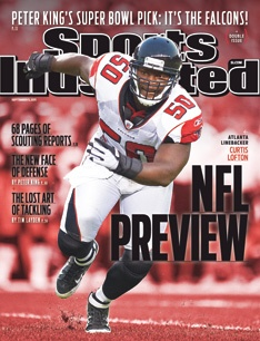 On the Cover: Curtis Lofton, Football, Atlanta Falcons  Photographed by: Bob Rosato / SI