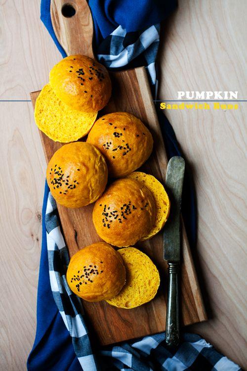 Soft Pumpkin Sandwich Buns | hungrygirlporvida.com