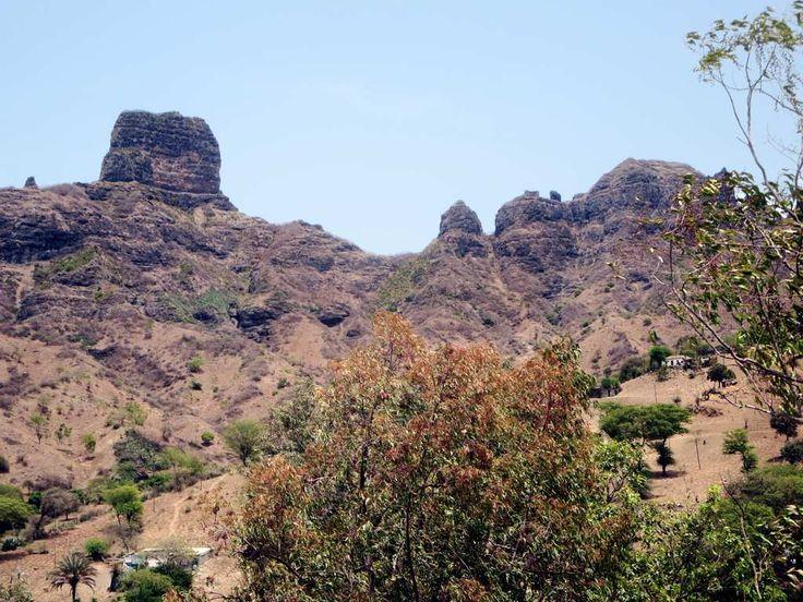 This dramatic ridge at São Jorge dos Órgãos on Santiago Island, Cape Verde, is just above the Jardim Botanico Nacional Grandvaux Barbosa.