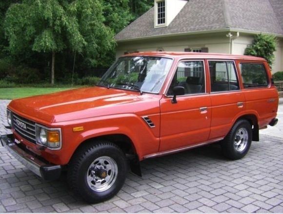 1986 Toyota Land Cruiser FJ60 Red