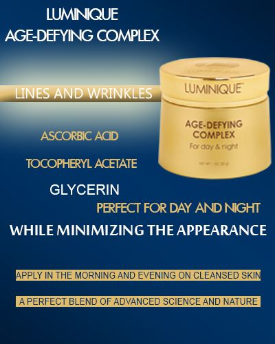 Age defying product is said to be prepared by a team of skin specialists.