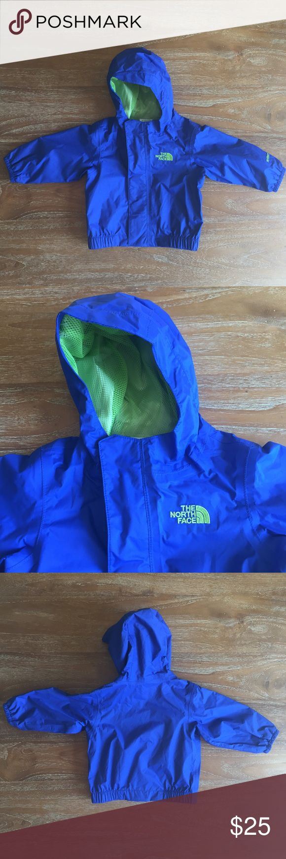 NWOT The North Face Jacket Size 3-6 Months Adorable new without tags The North Face jacket size 3-6 months old. My kid grew out of it before wearing it. No signs of wear, it has just been sitting in the closet for 3 years. The color is a bright blue with lime green piping. No trades or PayPal please.❤️ North Face Jackets & Coats