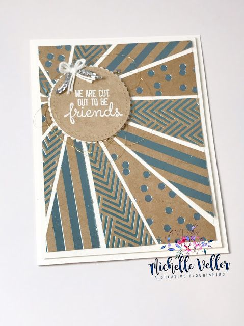 The Stampin' UP! Foil Frenzy Specialty Designer Series Paper & Crafting Forever Stamp Set make a beautiful Starburst Card
