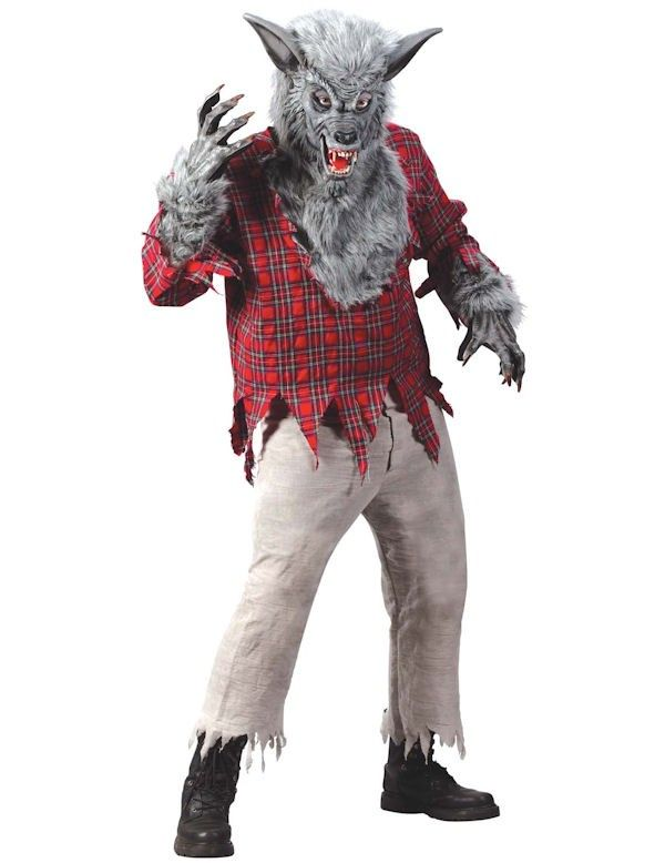 deluxe werewolf costume grey ml - Halloween Scary Costumes For Boys