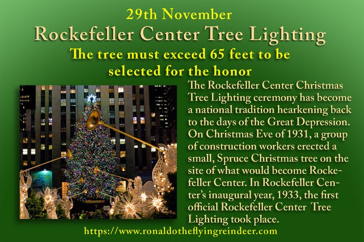 #today 29th November is #RockefellerCenterTreeLighting Every year since 1933, an evergreen tree plucked from its spot in New York or Vermont, Ohio or Pennsylvania or even Canada, is erected at 30 Rockefeller Plaza.  #ElectronicGreetingsDay #PackageProtectionDay #christmastreelighting #ChristmasTree #treelightingup #Christmas #Christmas2017  #HolidaysAreComing