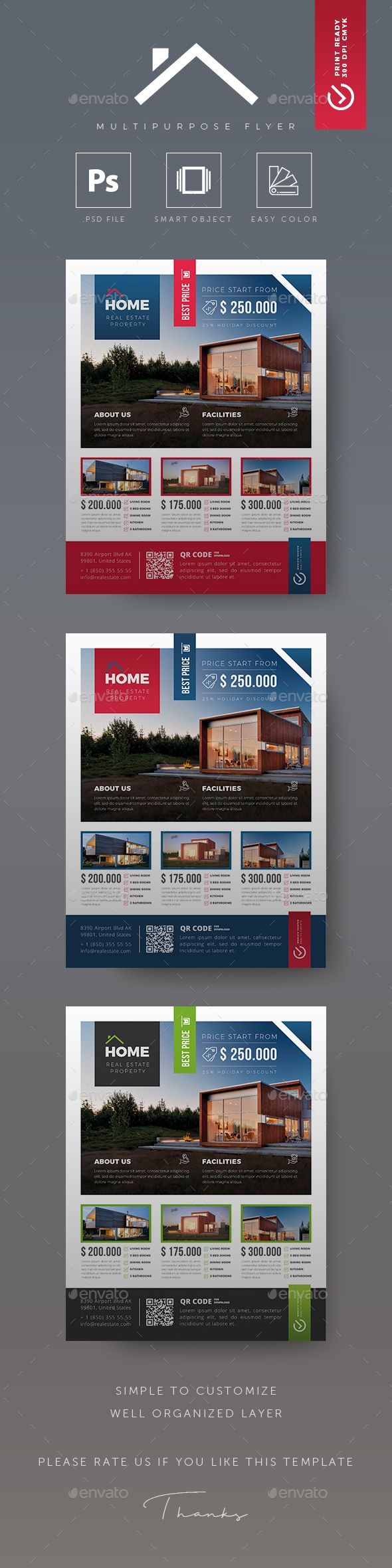 #Real Estate #Flyer – Flyers Print Templates
