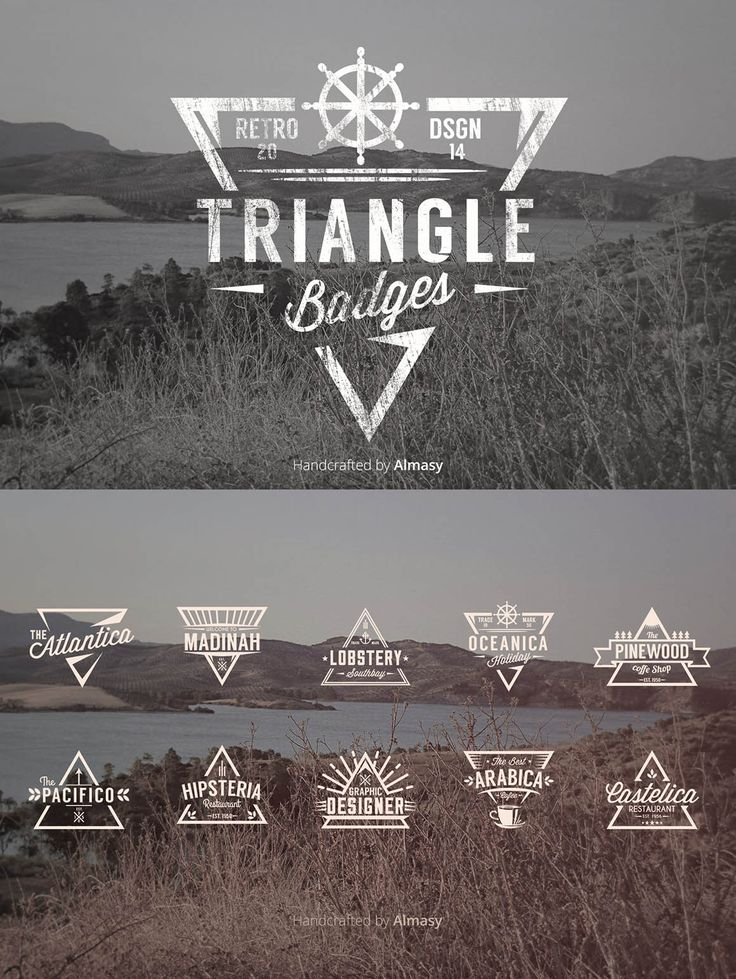 10 Multi-purpose Triangle Badges Templates are completely editable, made in vector. Perfect to use as logo for your company business #design Buy Now: https://creativemarket.com/alfitra/23144-Triangle-Badges-Vol.1?u=ksioks