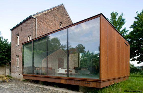 van de voorde - architecten love the juxtaposition of modern and vintage structures