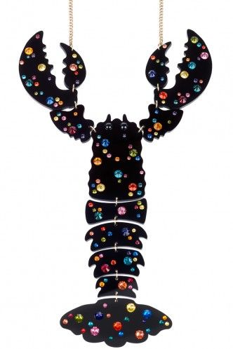 Lobster GIANT Necklace - black
