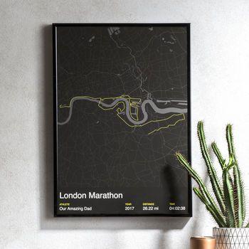 Personalised London Marathon Map Print