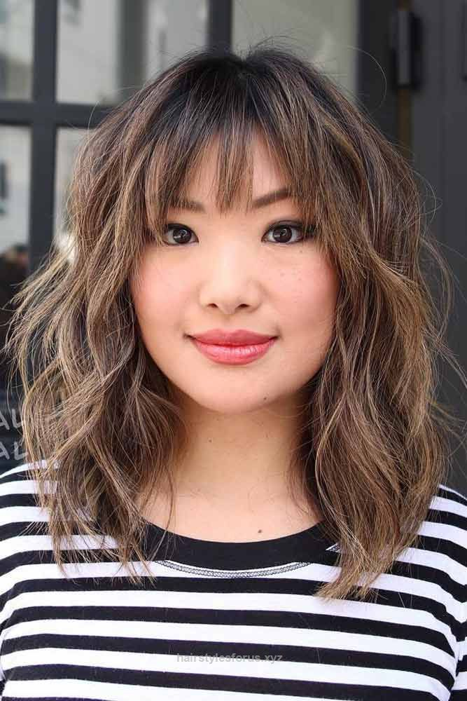 The 25+ best Medium hairstyles with bangs ideas on Pinterest ...