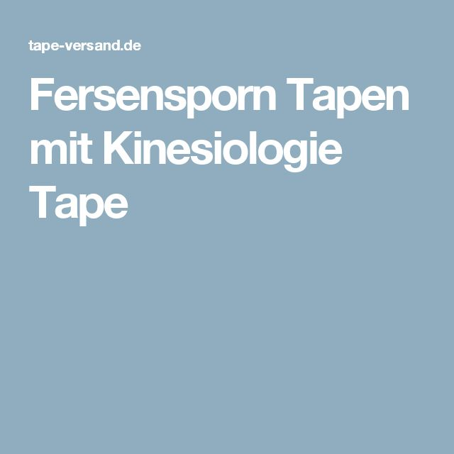 Fersensporn Tapen mit Kinesiologie Tape