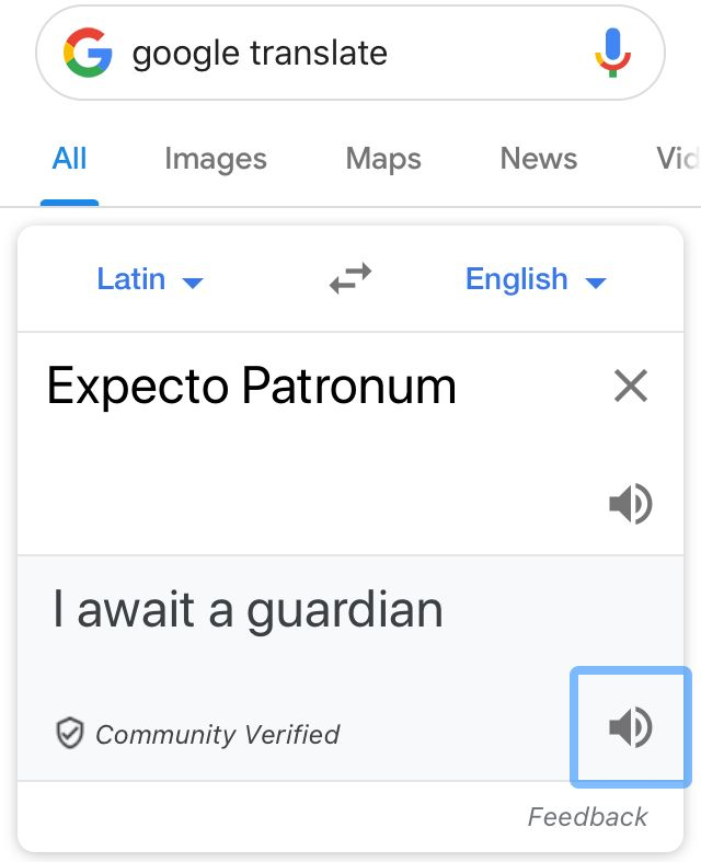 Omg Expecto Patronum Meaning Harry Potter Lotr