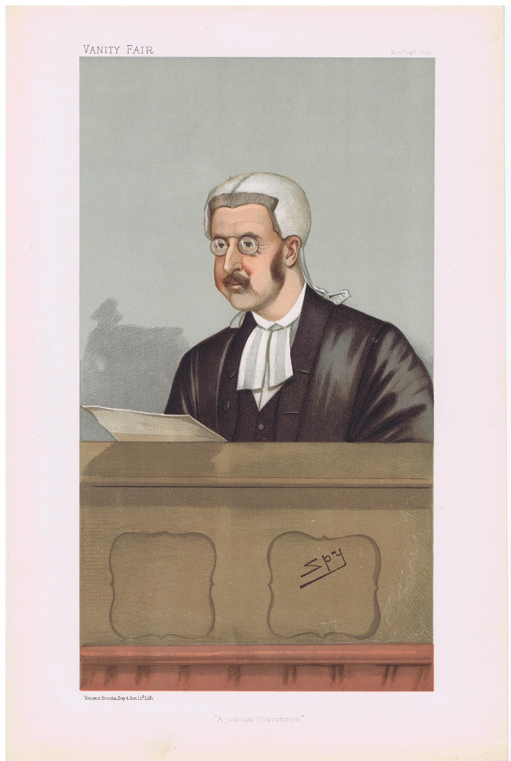 Date: 24-Nov-1898 The Vanity Fair Caricature of The Hon. Sir Walter George Frank Bart. D.C.L. Phillimore With the caption of : A Judicial Churchman By the artist: SPY Visit www.theakston-thomas.co.uk for many more Vanity Fair Prints, we have one of the largest collections in the world.