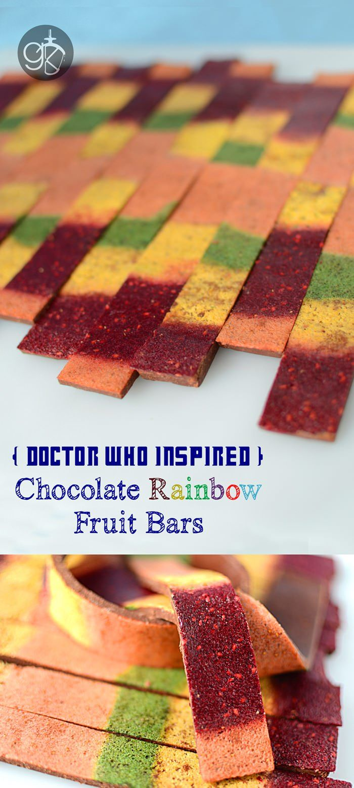 Chocolate Rainbow Fruit Bars Edible Doctor Who Scarf The Flavor Bender Rainbow Fruit Fruit Bar Food