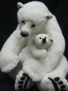 """The Greatest Love"" 24"" and 8"", a mother polar bear and her little cub."