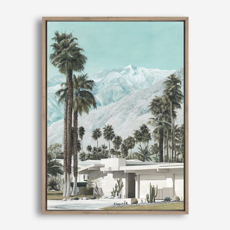 'Palm Springs' Canvas Art by The Print Emporium. Worldwide shipping options available #palmsprings #art #canvasart #coastal #palmtrees #artwork