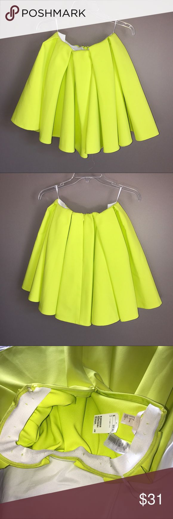 NWT H&M Neon Yellow Skirt Size 6 from H&M. Fits more like a 2 H&M Skirts