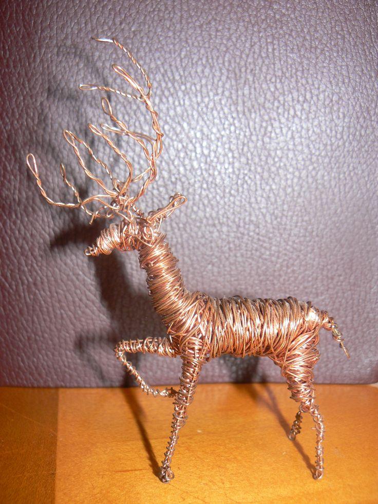 Copper Wire Reindeer