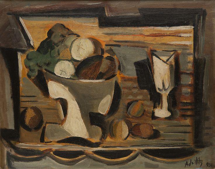 Alfred Justitz (1879–1934), Zátiší s ovocem | Galerie Václava Špály