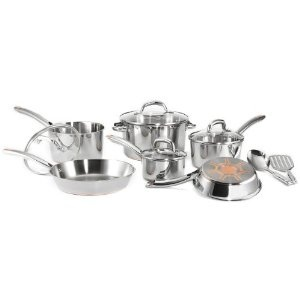 .: Cookware Sets, Stainlesssteel, Ultimate Stainless, Steel Copper Bottoms, T Fal C798Sc64, Multi Laying, 12 Pieces Cookware, C798Sc64 Ultimate, Stainless Steel