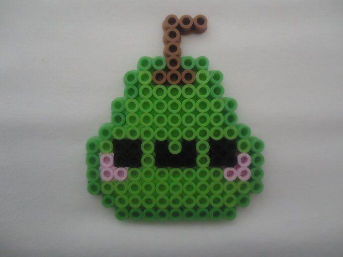 Kawaii Pear perler beads by PerlerHime