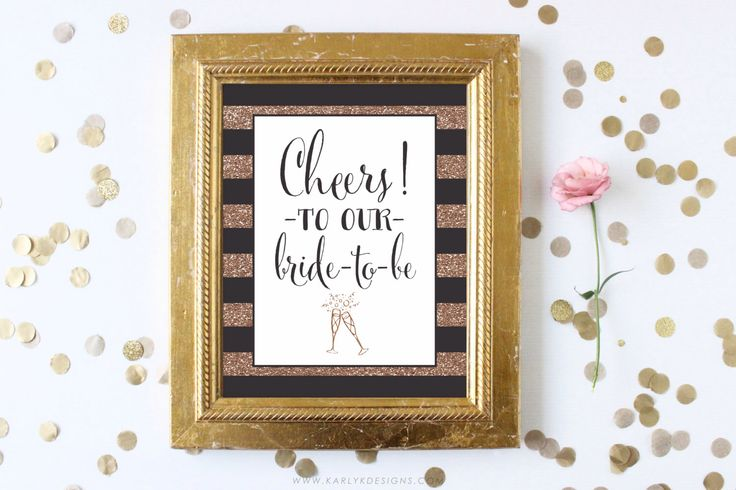 Bachelorette Party Decorations, Bachelorette Party Sign, Cheers to the Bride to Be, Printable Party Sign, Gold Glitter, INSTANT DOWNLOAD by KarlyKDesignShop on Etsy https://www.etsy.com/listing/219327663/bachelorette-party-decorations