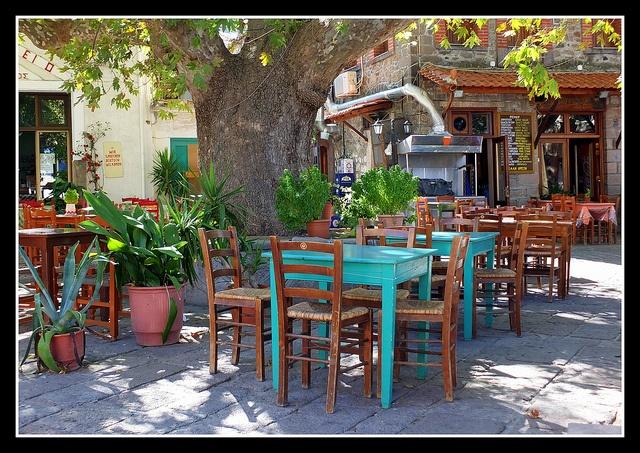 al fresco dinning   Antissa, Lesbos, Greece